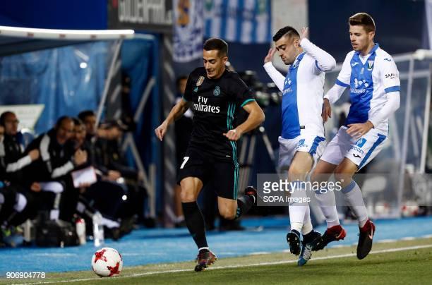 STADIUM LEGANéS MADRID SPAIN Lucas Vazquez during the match Jan 2018 Leganés and Real Madrid CF at Butarque Stadium Copa del Rey Quarter Final First...