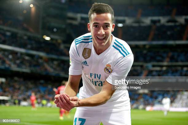 Lucas Vazquez of Real Madrid celebrates 10 during the Spanish Copa del Rey match between Real Madrid v Numancia on January 10 2018