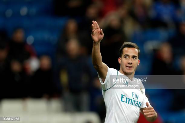 Lucas Vazquez of Real Madrid celebrates 21 during the Spanish Copa del Rey match between Real Madrid v Numancia on January 10 2018