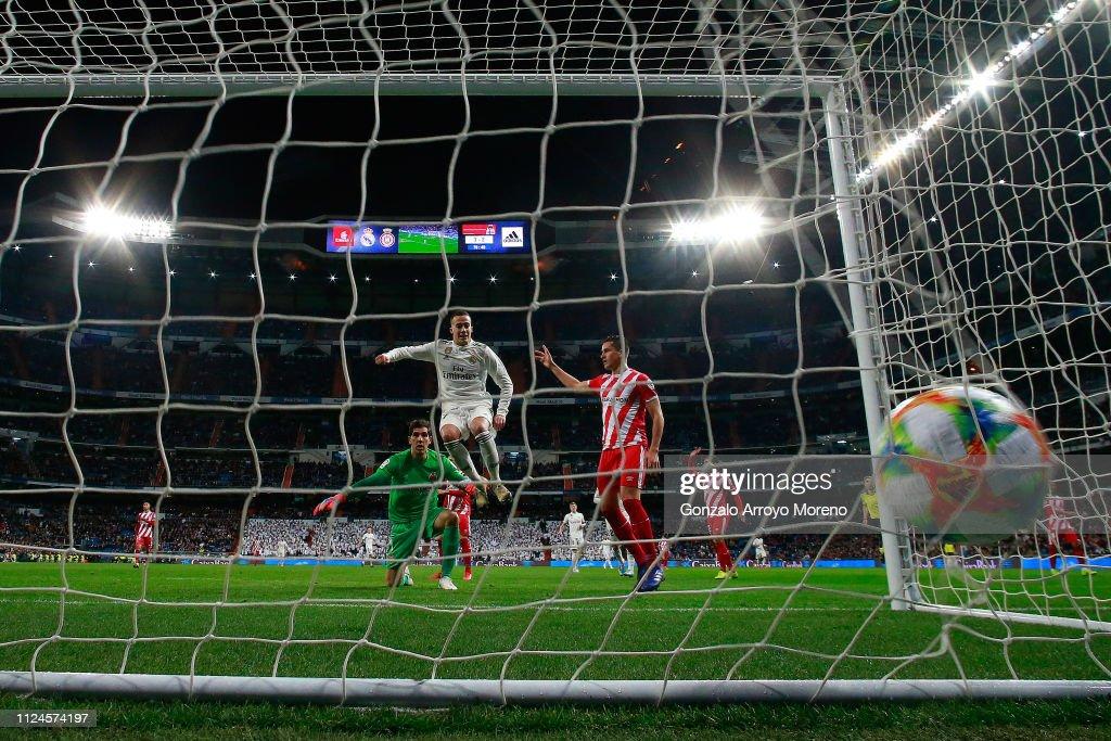 ESP: Real Madrid v Girona - Copa del Rey Quarter Final
