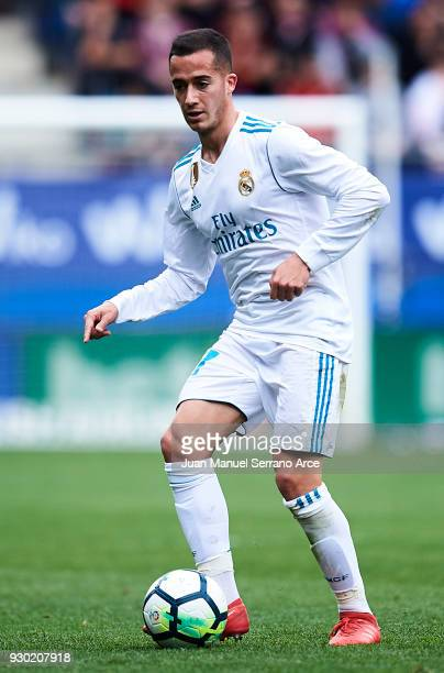 Lucas Vazquez of Real Madrid controls the ball during the La Liga match between SD Eibar and Real Madrid at Ipurua Municipal Stadium on March 10 2018...
