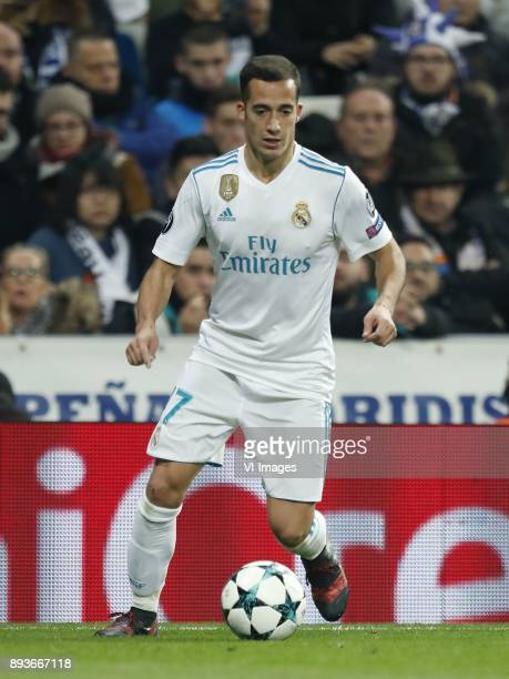 Lucas Vazquez of Real Madrid during the UEFA Champions League group H match between Real Madrid and Borussia Dortmund on December 06 2017 at the...