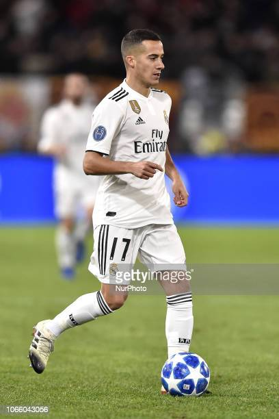 Lucas Vazquez of Real Madrid during the UEFA Champions League match between Roma and Real Madrid at Stadio Olimpico Rome Italy on 27 November 2018