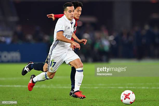 Lucas Vazquez of Real Madrid in action during the FIFA Club World Cup final match between Real Madrid and Kashima Antlers at International Stadium...
