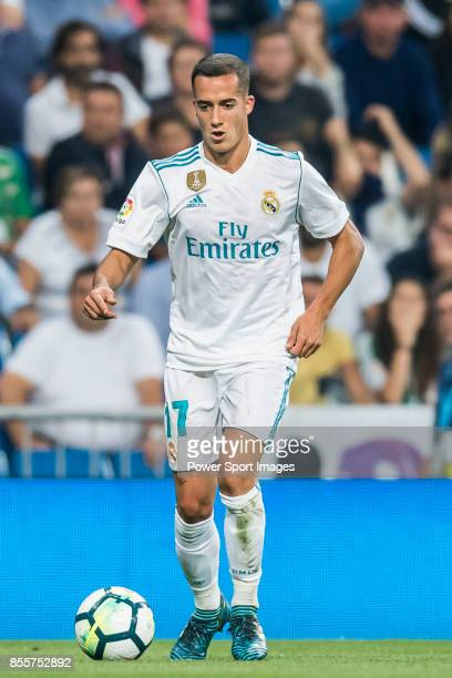 Lucas Vazquez of Real Madrid in action during the La Liga 201718 match between Real Madrid and Real Betis at Estadio Santiago Bernabeu on 20...