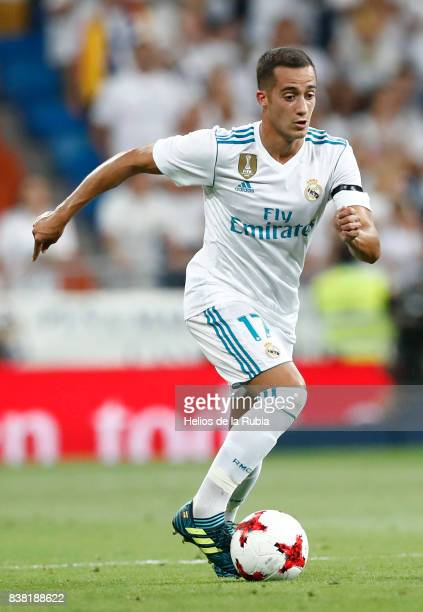 Lucas Vazquez of Real Madrid in actions during the match Trofeo Santiago Bernabeu between Real Madrid CF and Fiorentina at Santiago Bernabeu Stadium...