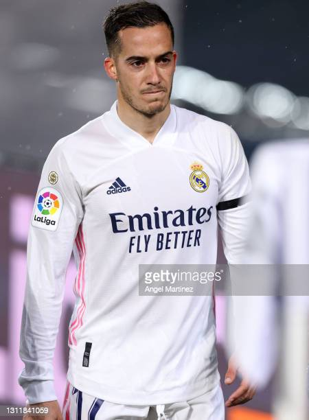 Lucas Vazquez of Real Madrid walks off due to injury during the La Liga Santander match between Real Madrid and FC Barcelona at Estadio Alfredo Di...