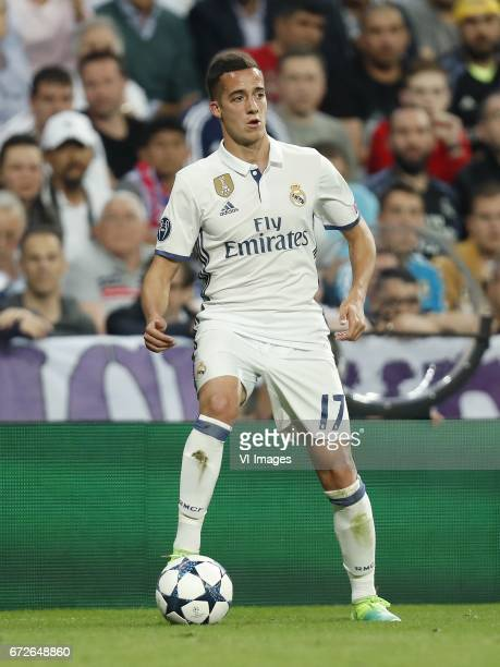 Lucas Vazquez of Real Madridduring the UEFA Champions League quarter final match between Real Madrid and Bayern Munich on April 18 2017 at the...
