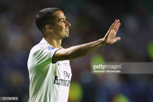 Lucas Vazquez of Real reacts during the UEFA Super Cup between Real Madrid and Atletico Madrid at Lillekula Stadium on August 15 2018 in Tallinn...