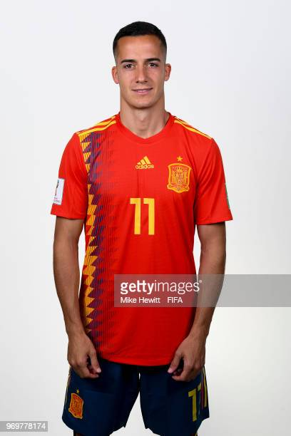 Lucas Vazquez of Spain poses for a portrait during the official FIFA World Cup 2018 portrait session at FC Krasnodar Academy on June 8 2018 in...