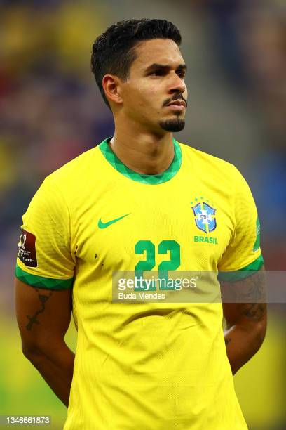Lucas Verissimo of Brazil looks on prior to a match between Brazil and Uruguay as part of South American Qualifiers for Qatar 2022 at Arena Amazonia...