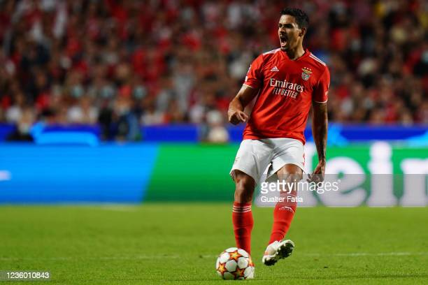 Lucas Verissimo of SL Benfica in action during the Group E - UEFA Champions League match between SL Benfica and Bayern Munchen at Estadio da Luz on...