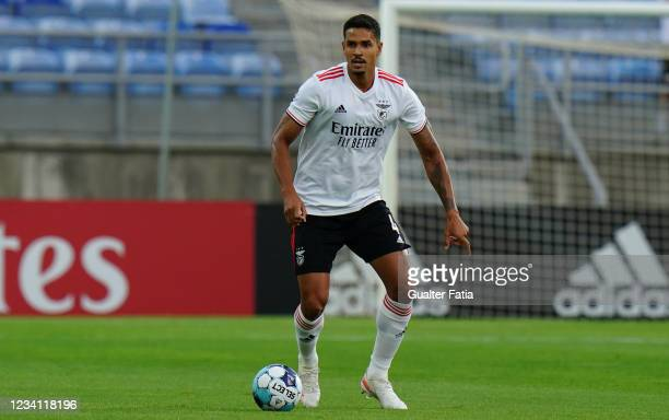 Lucas Veríssimo of SL Benfica in action during the Pre-Season Friendly match between SL Benfica and Lille at Estadio Algarve on July 22, 2021 in...