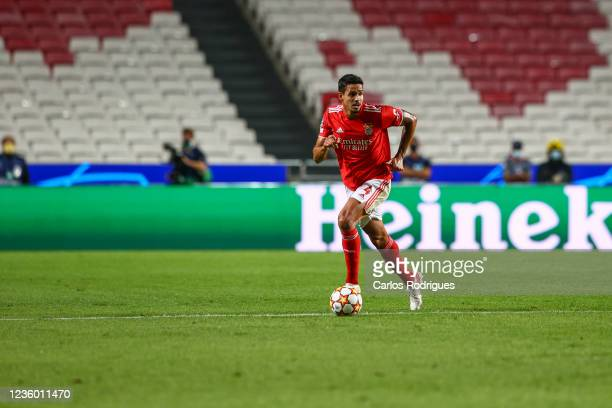 Lucas Veríssimo of SL Benfica in action during the UEFA Champions League group E match between SL Benfica and Bayern Muenchen at Estadio da Luz on...
