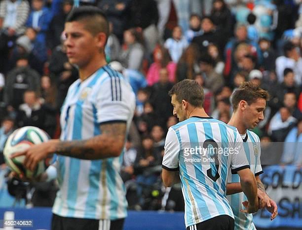 Lucas Viglia of Argentina during a FIFA friendly match between Argentina and Slovenia at Ciudad de La Plata Stadium on June 7 2014 in La Plata...