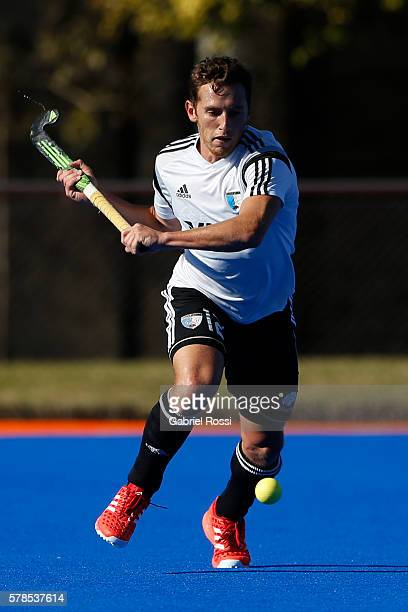 Lucas Vila of Argentina takes a shot during Argentina Training Session at CenARD on July 21 2016 in Buenos Aires Argentina