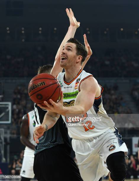 Lucas Walker of the Taipans shoots during the round five NBL match between Melbourne United and the Cairns Taipans at Hisense Arena on November 11...