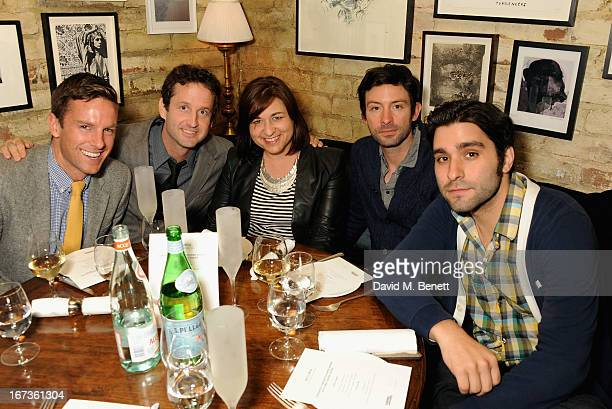 Lucas Webb Trevor Groth Jessica Buzzard Shane Carruth and Jordan Vogt Roberts attend Grey Goose hosted Sundance London Filmmaker Dinner at Little...