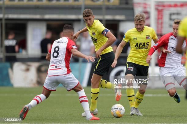 Lucas Woudenberg of sc Heerenveen during the Dutch Eredivisie match between sc Heerenveen and Vitesse Arnhem at Abe Lenstra Stadium on August 19 2018...
