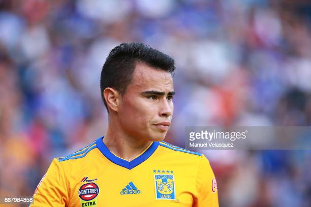 Lucas Zelarayan of Tigres looks on during the 15th round match between Cruz Azul and Tigres UANL as part of the Torneo Apertura 2017 Liga MX at Azul...