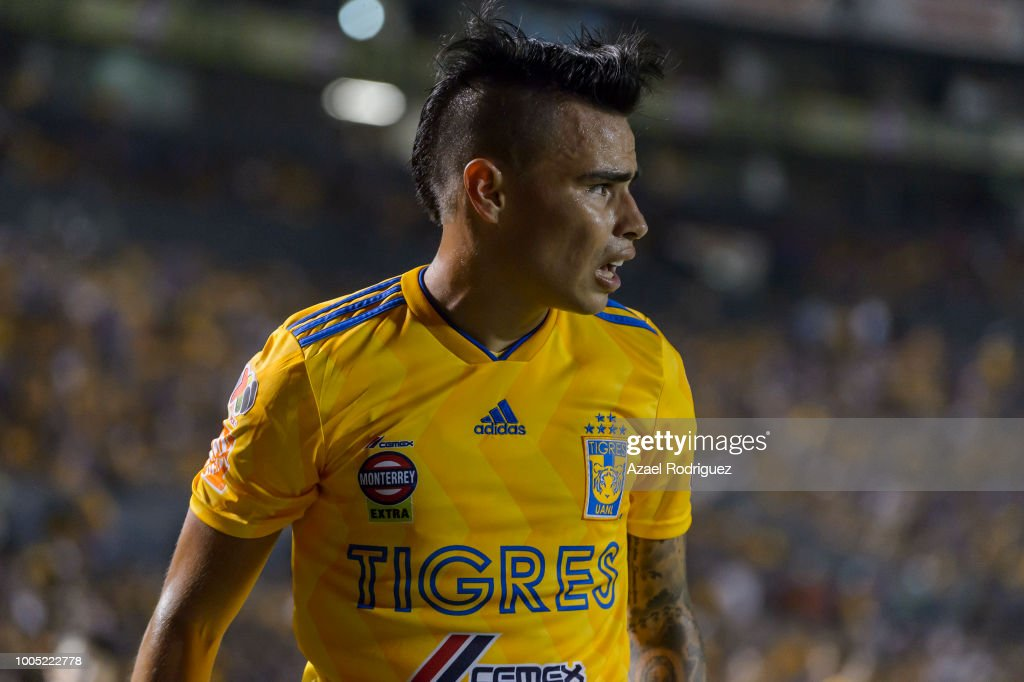 9e8f24e2103 Lucas Zelarayan of Tigres looks on during the 1st round match ...