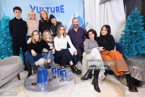 Lucas Zumann, Malin Akerman, Madisen Beaty, Shea Whigham, Liana Liberato, Tony Hale, Kara Hayward and Martha Stephens attend The Vulture Spot during...