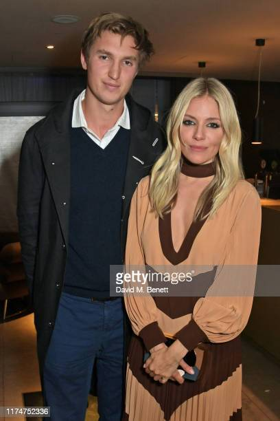 """Lucas Zwirner and Sienna Miller attend a special screening of """"American Woman"""" at The Curzon Bloomsbury on October 9, 2019 in London, England."""