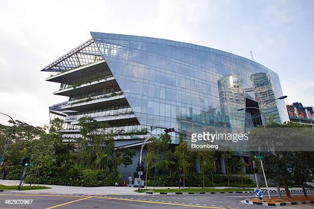 Lucasfilm Ltd's Sandcrawler building home to the company's Singapore unit stands in Singapore on Thursday Jan 16 2014 Lucasfilm Singapore which is...