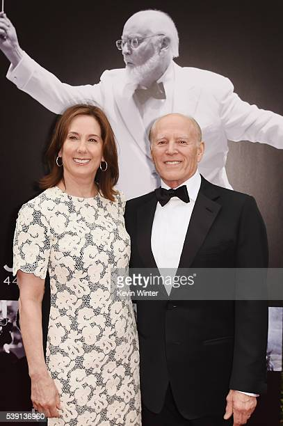 Lucasfilm President Kathleen Kennedy and producer Frank Marshall arrive at American Film Institute's 44th Life Achievement Award Gala Tribute to John...