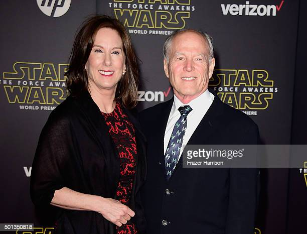 Lucasfilm President Kathleen Kennedy and producer Frank Marshall attend Premiere of Walt Disney Pictures and Lucasfilm's Star Wars The Force Awakens...