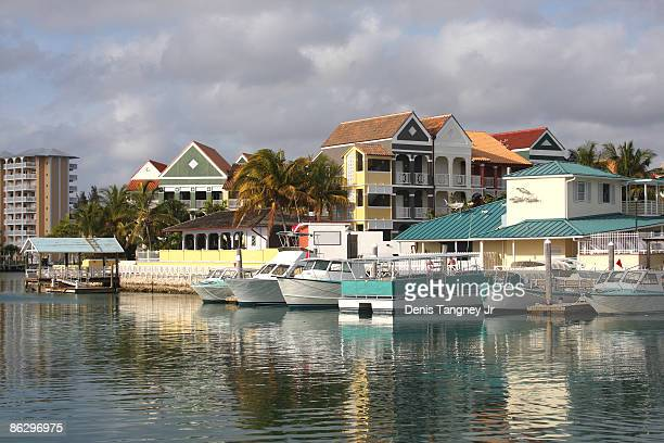 lucaya harbor - freeport bahamas stock photos and pictures
