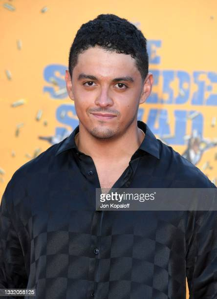 """Lucca De Oliveira attends the Warner Bros. Premiere of """"The Suicide Squad"""" at Regency Village Theatre on August 02, 2021 in Los Angeles, California."""