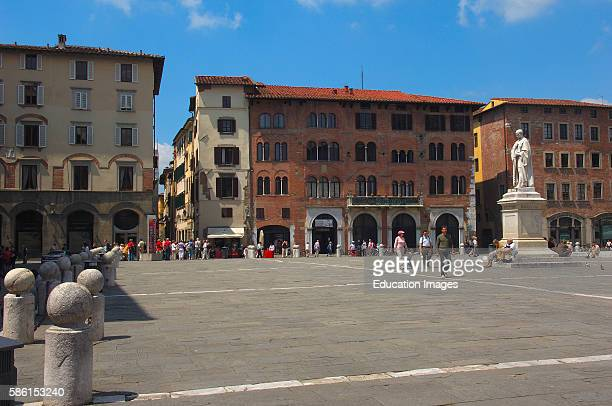Lucca San Michele square Piazza san Michele Tuscany Italy