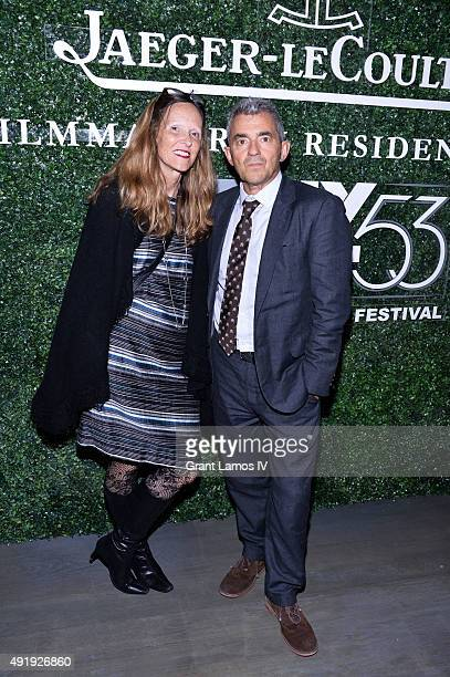Luce Battsek and Daniel Battsek attend the 53rd New York Film Festival Filmmakers In Residence Dinner at Cafe Clover on October 8 2015 in New York...