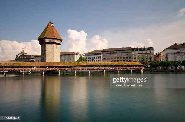Lucerne Chapel Bridge with Water Tower