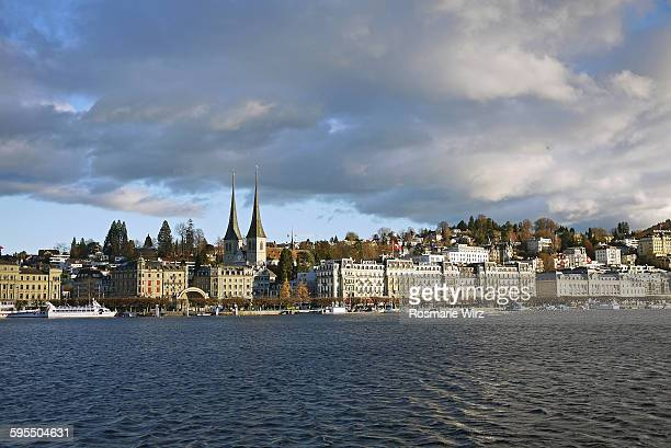 Lucerne skyline with dramatic sky