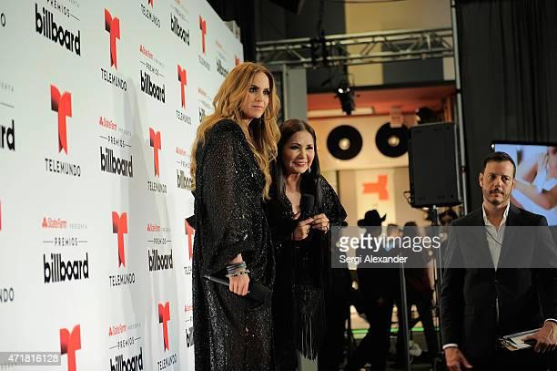 Lucero and Ana Gabriel attend the 2015 Billboard Latin Music Awards 'Premios Billboard' at BankUnited Center on April 30 2015 in Miami Florida