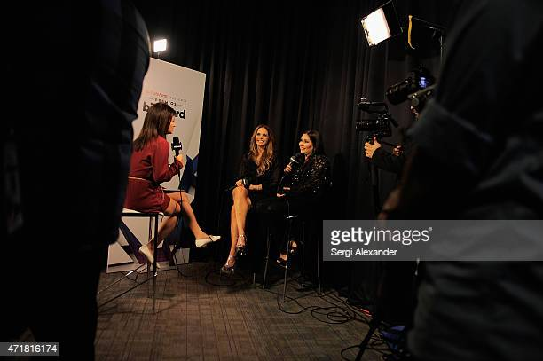 Lucero and Ana Gabriel attend the 2015 Billboard Latin Music Awards Premios Billboard at BankUnited Center on April 30 2015 in Miami Florida