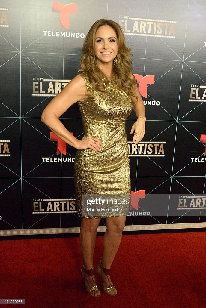 Lucero attends Telemundo press conference for Yo Soy El Artista(I Am The Artist) at the W South Beach at W Hotel on August 27, 2014 in Miami, Florida.