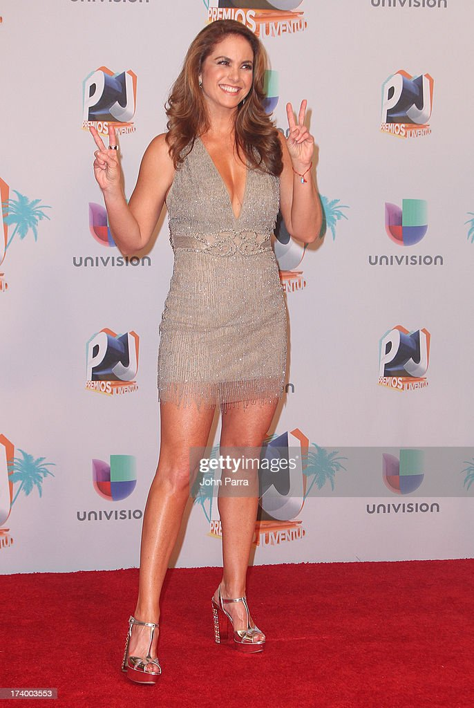 Lucero poses in the press room during the Premio Juventud 2013 at Bank United Center on July 18, 2013 in Miami, Florida.