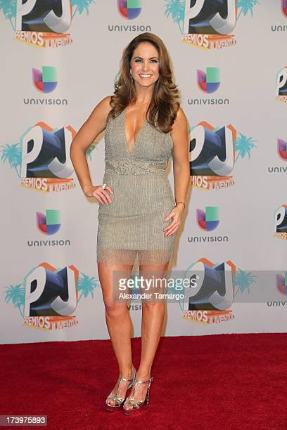 Lucero poses in the press room during the Premios Juventud 2013 at Bank United Center on July 18 2013 in Miami Florida
