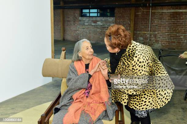Luchita Hurtado and Miky Lee attend Hauser Wirth x MATCHESFASHION at Hauser Wirth on February 12 2020 in Los Angeles California