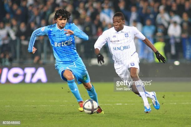Lucho GONZALEZ / Alain TRAORE Auxerre / Marseille 17eme journee de Ligue1