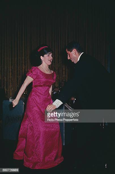 Luci Baines Johnson daughter of President Lyndon B Johnson dances with her escort Jim Betz at the State Department party in Washington DC on 19th...