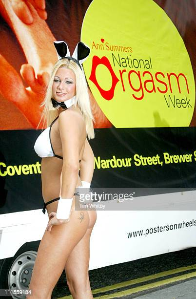 Luci Victoria during National Orgasm Week Photocall at Ann Summers Oxford Street in London Great Britain