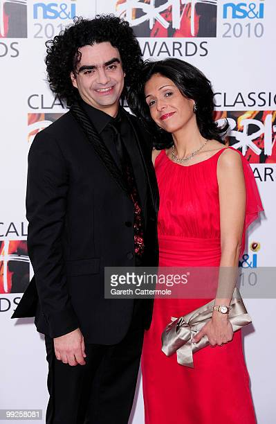 Lucia and Rolando Villazon attend the Classical BRIT Awards at Royal Albert Hall on May 13, 2010 in London, England.