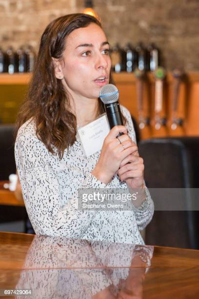 Lucia Aniello speaks at the DGA Reception during 2017 Los Angeles Film Festival at City Tavern on June 16 2017 in Culver City California