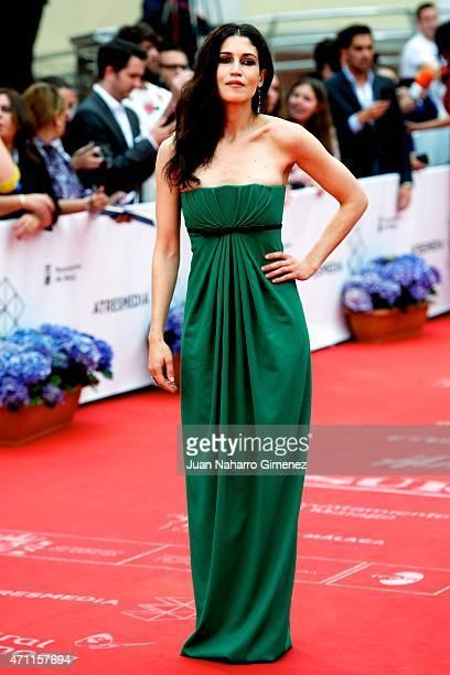 Lucia Barros attends the 'Solo Quimica' premiere during the 18th Malaga Spanish Film Festival at the Cervantes Theater on April 25 2015 in Malaga...