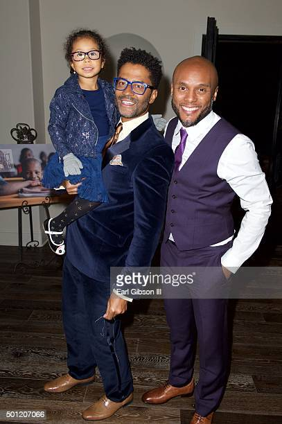 Lucia Bella, Eric Benet and Kenny Lattimore attend the In A Perfect World 10 Year Celebration Of Giving on December 12, 2015 in Calabasas, California.