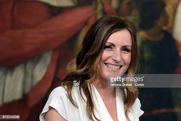 Lucia Borgonzoni during the oath of the Vice Presidents and Subsecretaries at Palazzo Chigi on June 13 2018 in Rome Italy The Italian Government is...